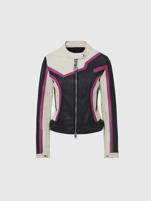 L-JOBE, Noir/Blanc - Vestes de cuir