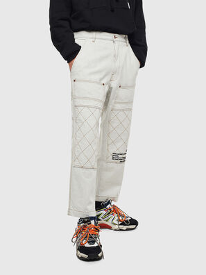 D-FRAK, Blanc - Pantalons