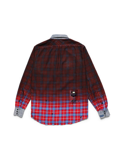 Diesel - D-DEEPCHECK-B, Rouge - T-Shirts - Image 2