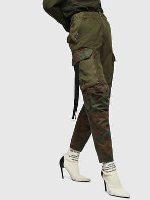 P-THENA-A, Vert Camouflage - Pantalons
