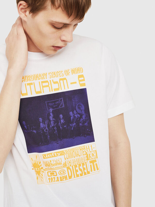 Diesel - T-JUST-Y16, Blanc - T-Shirts - Image 4