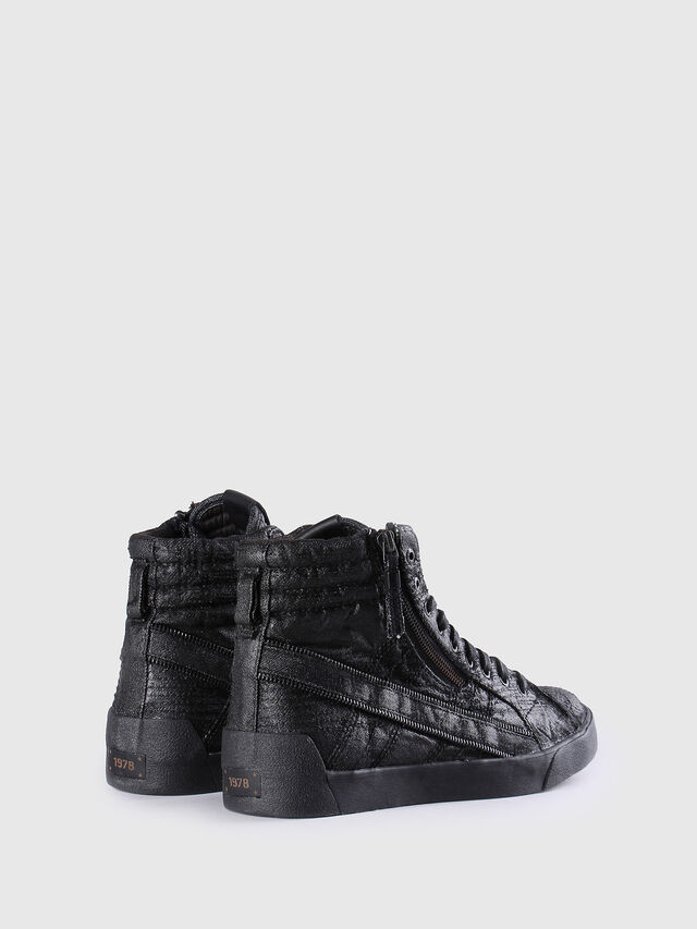 Diesel - D-STRING PLUS, Cuir Noir - Baskets - Image 3
