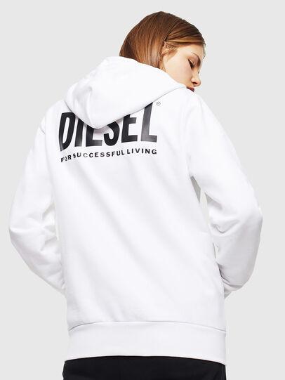Diesel - S-GIRK-HOOD-ZIP-LOGO, Blanc - Pull Cotton - Image 4
