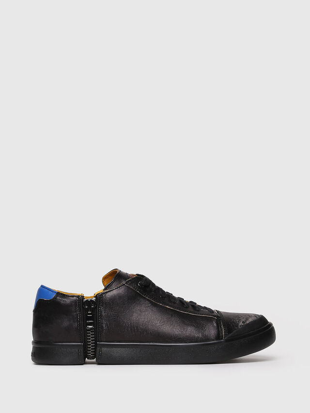 Diesel - S-NENTISH LOW, Noir/Bleu - Baskets - Image 1