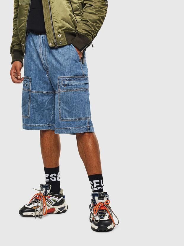 D-LUKS-SHORT, Bleu Clair - Shorts