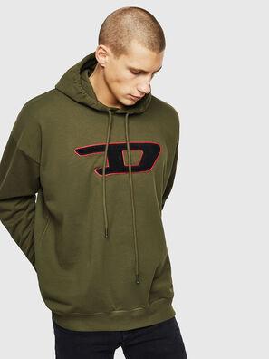 S-DIVISION-D, Vert Militaire - Pull Cotton