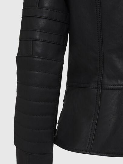 Diesel - L-IGE-NEW, Noir - Vestes de cuir - Image 6