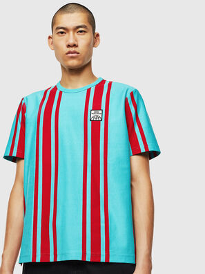 T-STRIP-J1, Bleu/Rouge - T-Shirts