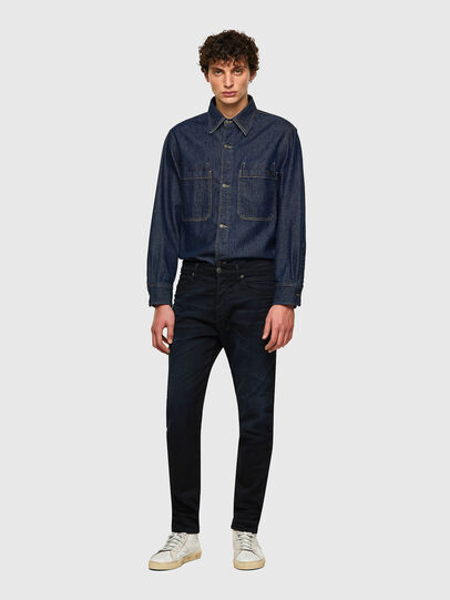 Diesel - D-Fining-Chino 084AY, Bleu Foncé - Jeans - Image 4