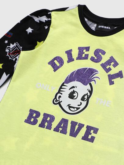 Diesel - TULLAB-R, Noir/Jaune - T-shirts et Hauts - Image 3