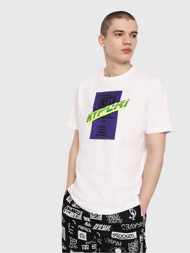 Diesel - T-JUST-Y7, Blanc - T-Shirts - Image 1