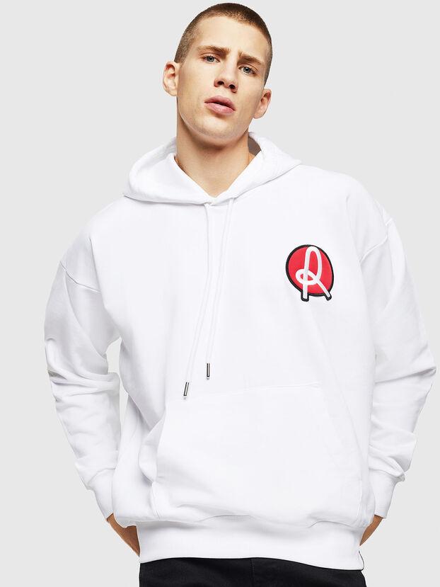 LR-S-GIRK-HOOD-VIC, Blanc - Pull Cotton