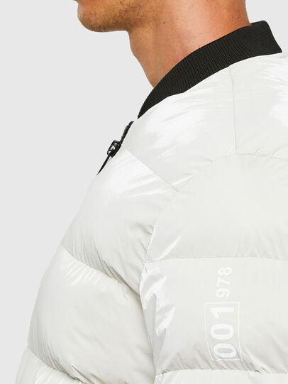 Diesel - W-ON-A, Blanc - Vestes d'hiver - Image 3