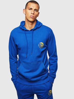 UMLT-BRANDON, Bleu Brillant - Pull Cotton
