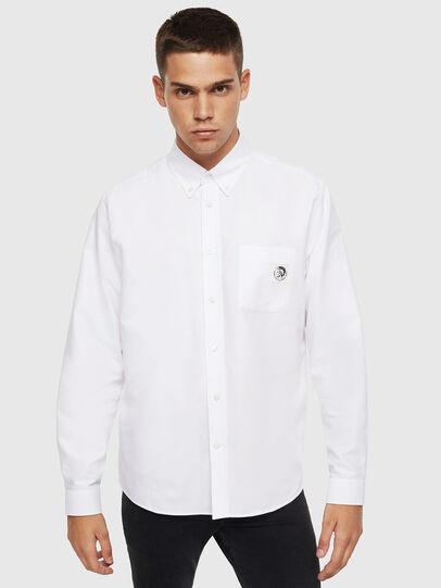 Diesel - S-JAMES, Blanc - Chemises - Image 1