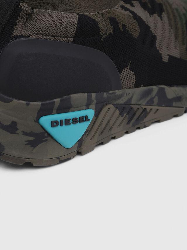 Diesel - S-KB ATHL SOCK, Vert Camouflage - Baskets - Image 5