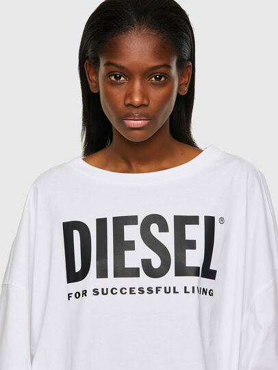 Diesel - D-EXTRA-ECOLOGO, Blanc - Robes - Image 3