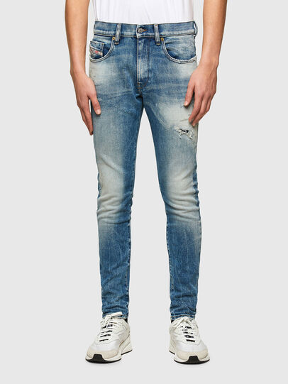Diesel - D-Strukt 009MW, Bleu moyen - Jeans - Image 1