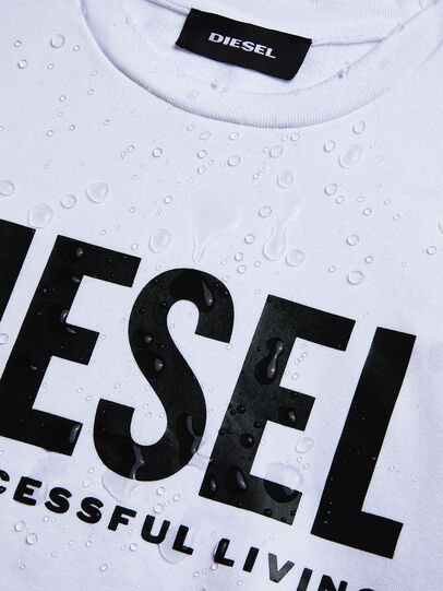 Diesel - S-GIR-DIVISION-LOGO, Blanc - Pull Cotton - Image 5