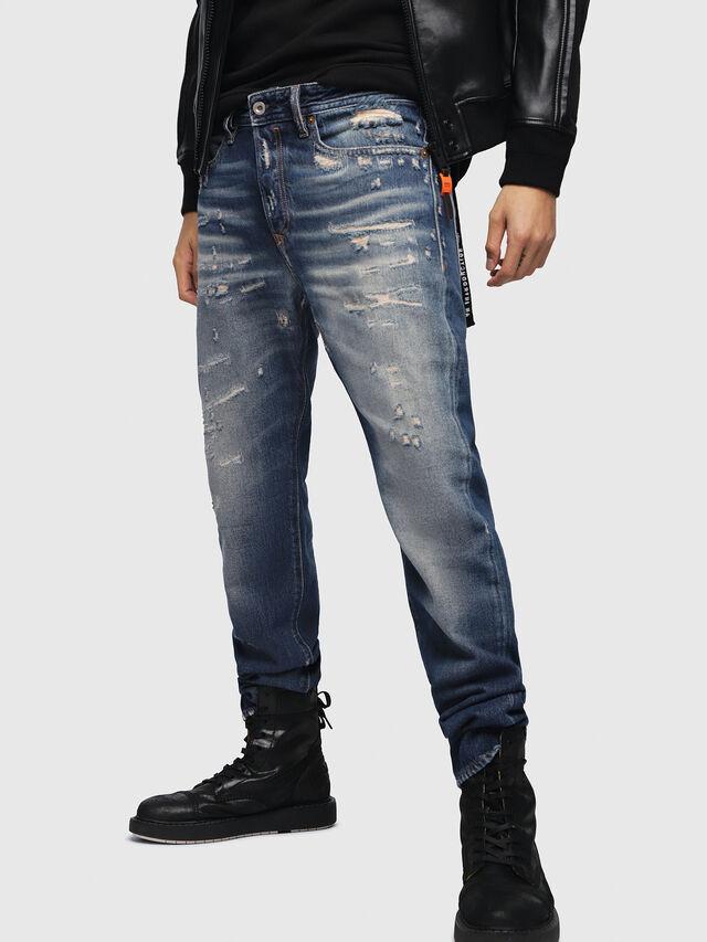 Diesel - Buster 088AQ, Bleu Foncé - Jeans - Image 1