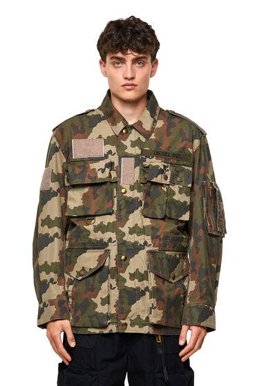 Veste camouflage en sergé de coton