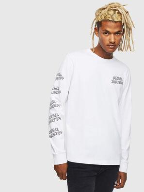 T-DIEGO-LS-J1, Blanc - T-Shirts