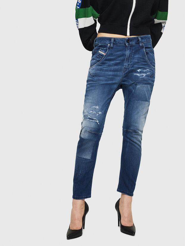 Fayza JoggJeans 069HB, Bleu moyen - Jeans