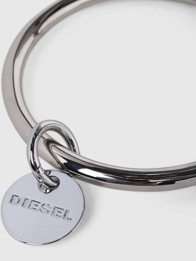 Diesel - CL-METAL BANGLE, Gris argenté - Bijoux et Gadgets - Image 3