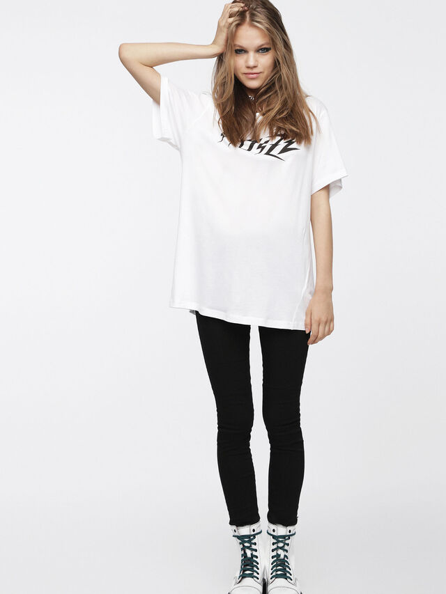Diesel - T-OVERY-A, Blanc - T-Shirts - Image 1