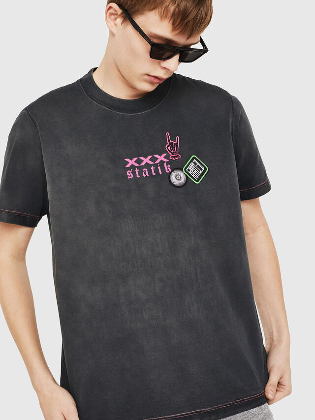 Diesel - T-MINORU, Noir - T-Shirts - Image 5