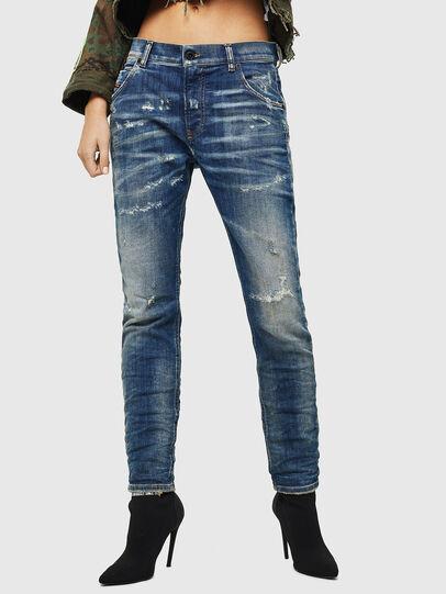 Diesel - Krailey JoggJeans 0870Q, Bleu moyen - Jeans - Image 1