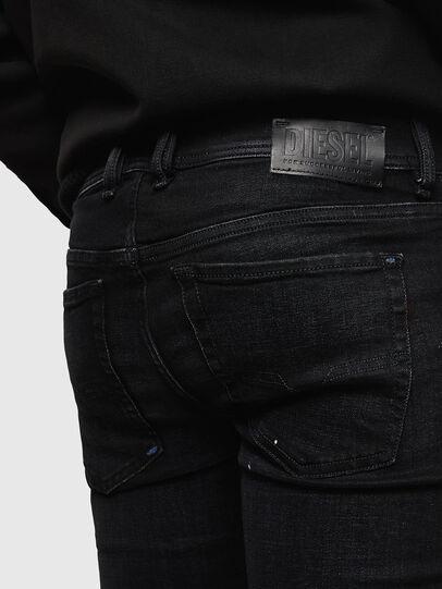 Diesel - Sleenker Zip 0093X, Noir/Gris foncé - Jeans - Image 6