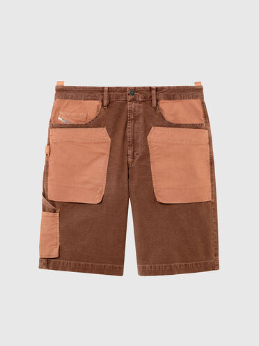 Short utilitaire en JoggJeans® patchwork