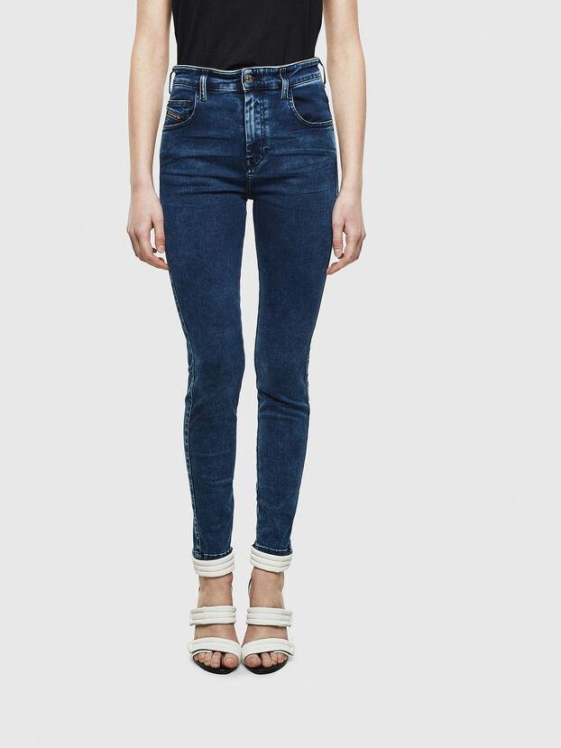 Slandy High 0094Z, Bleu Foncé - Jeans