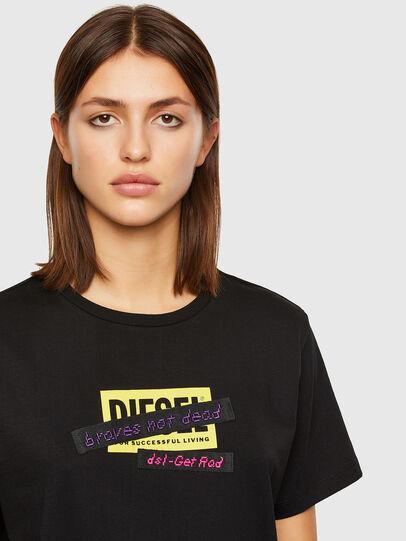 Diesel - T-DARIA-R2, Noir - T-Shirts - Image 3