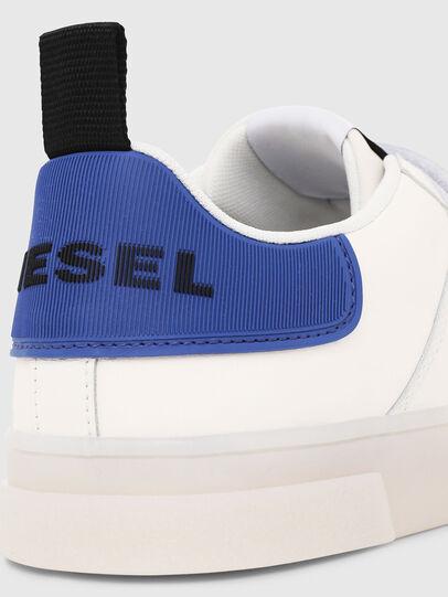 Diesel - S-CLEVER LOW STRAP, Blanc/Bleu - Baskets - Image 4