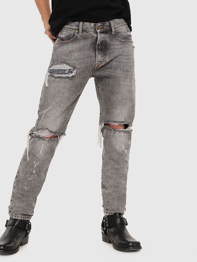Diesel - Mharky 089AT, Gris Clair - Jeans - Image 1