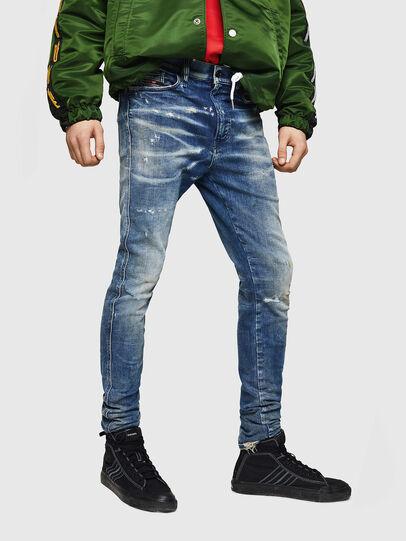 Diesel - D-Reeft JoggJeans 0870Q, Bleu moyen - Jeans - Image 1