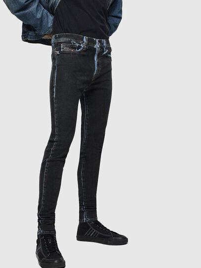 Diesel - D-Istort 0094B, Bleu Foncé - Jeans - Image 5