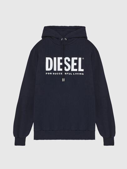 Diesel - S-GIR-HOOD-DIVISION-, Bleu Foncé - Pull Cotton - Image 1