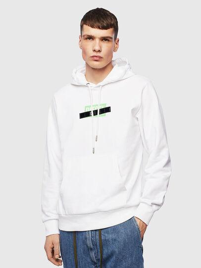 Diesel - S-GIRK-HOOD-S1, Blanc - Pull Cotton - Image 1