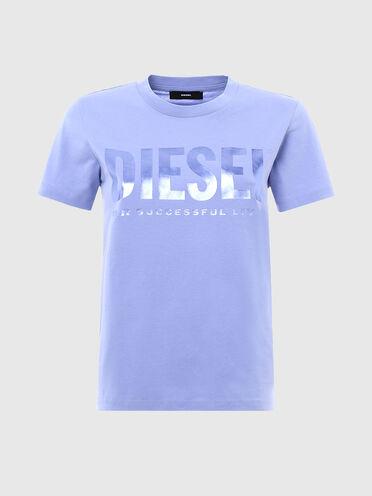 T-shirt avec lettrage et slogan en PVC