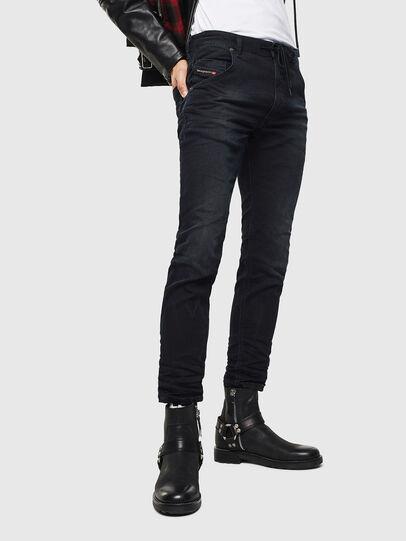 Diesel - Krooley JoggJeans 069KJ, Noir/Gris foncé - Jeans - Image 1