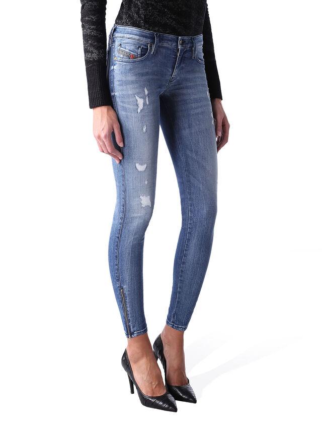 Diesel - Skinzee Low Zip 0847U, Bleu moyen - Jeans - Image 2