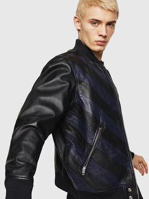 L-OLEG, Noir/Bleu - Vestes de cuir