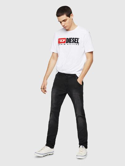 Diesel - Krooley Long JoggJeans 0670M, Noir - Jeans - Image 5