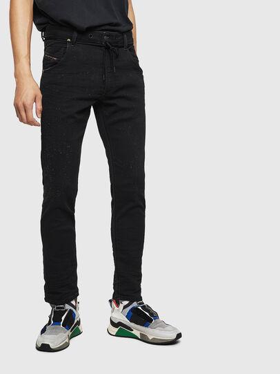 Diesel - Krooley JoggJeans 0092N, Noir/Gris foncé - Jeans - Image 1