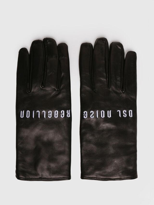 Diesel - G-REBEL, Cuir Noir - Bérets, chapeaux et gants - Image 1