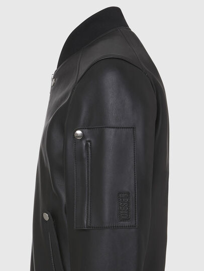 Diesel - L-JOSEPH, Noir - Vestes de cuir - Image 4