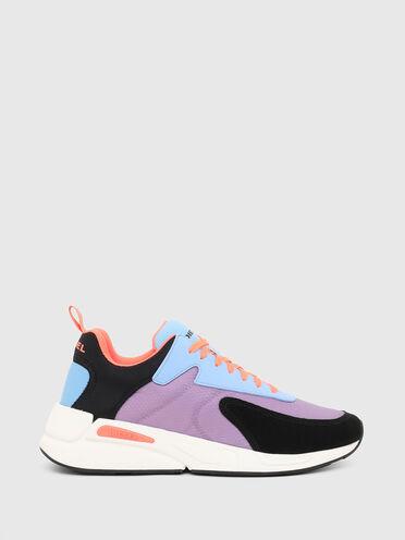 Sneakers en nylon indéchirable et cuir suédé
